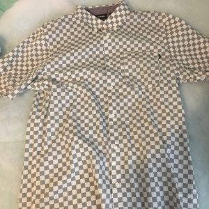 Vans checkered dress tee